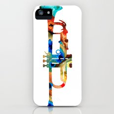 Colorful Trumpet Art By Sharon Cummings Slim Case iPhone (5, 5s)