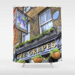 The Grapes Pub London Shower Curtain