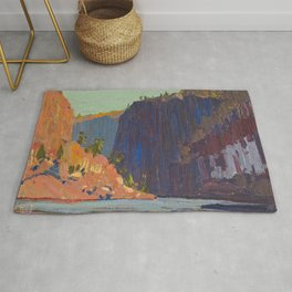 Tom Thomson - Petawawa Gorges - Canada, Canadian Oil Painting - Group of Seven Rug