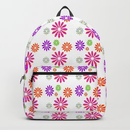 Shiny Multicolored Small Flowers Pattern Backpack