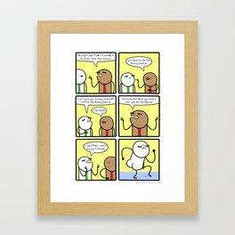 Antics #297 - mister grumpy butt Framed Art Print