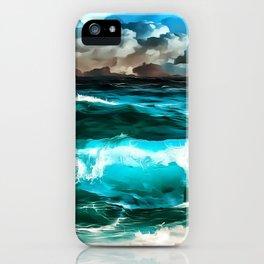 stormy sea waves reacstd iPhone Case