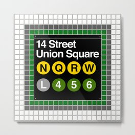 subway union square sign Metal Print