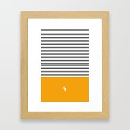 Line Edition Yellow Framed Art Print