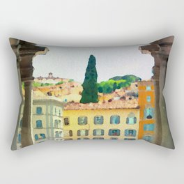 Watercolor painting of Florence, Italy Rectangular Pillow