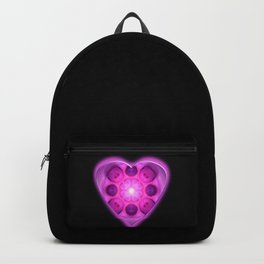 Glow Love Heart Mandala Backpack