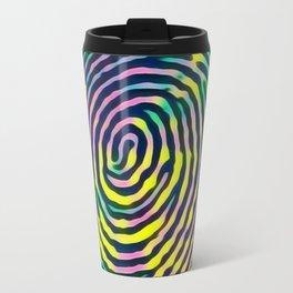 Rainbow fingerprint Travel Mug
