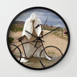 Ghost with bike Wall Clock