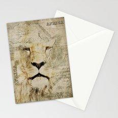Lion Vintage Africa old Map illustration Stationery Cards