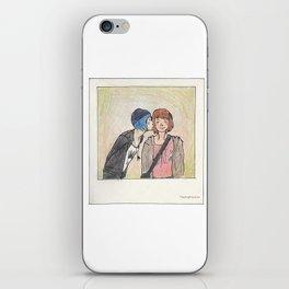 Max and Chloe polaroid iPhone Skin