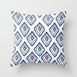 Rugged Royal - aztec watercolour pattern Throw Pillow