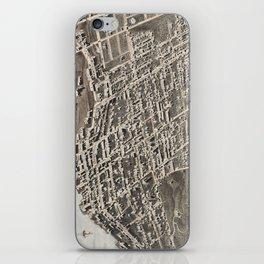 Vintage Pictorial Map of Newburgh New York (1875) iPhone Skin