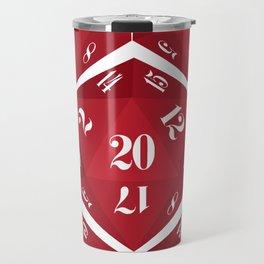 Red 20-Sided Dice Travel Mug