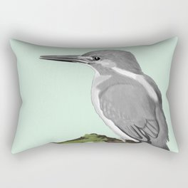 Kingfisher in gray Rectangular Pillow