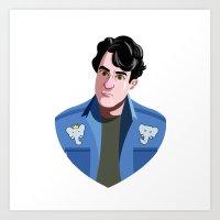 ezra koenig Art Prints featuring Ezra K.  by Maliboo