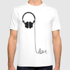 for the love of music MEDIUM White Mens Fitted Tee