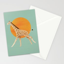 Giraffe and Sun Stationery Cards