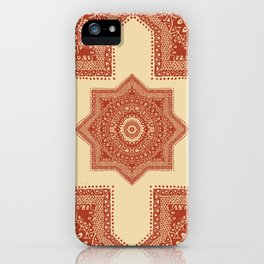The Red Moroccan Pattern iPhone Case