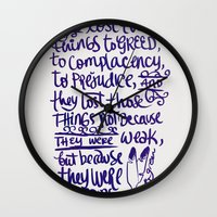battlefield Wall Clocks featuring Vlogbrothers- Thoughts From A Battlefield by deducktion