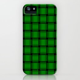 Green Weave iPhone Case