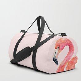 Pink Flamingo Summer Duffle Bag