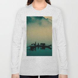 Junk ship Chinese Boat Long Sleeve T-shirt