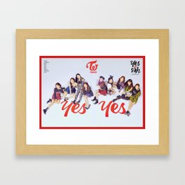 twice yes or yes2 Framed Art Print