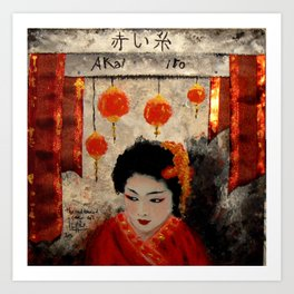 THE RED THREAD Art Print