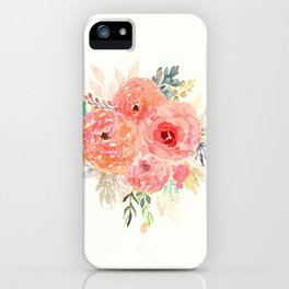 Pink Flower Bouquet iPhone Case