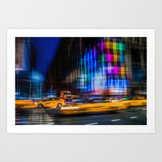 A colorful town Art Print
