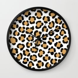Trendy Leopard Simulated Fur Effect Pattern Wall Clock