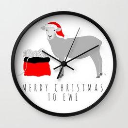 Merry Christmas to Ewe Wall Clock