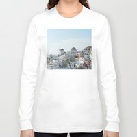 greece Long Sleeve T-shirts featuring Greece Villas by Limitless Design