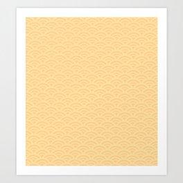Japanese pattern yellow Art Print