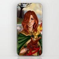 dark souls iPhone & iPod Skins featuring Dark Souls 2  - Emerald Herald by Vivid-K