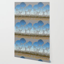Blue and white forest Wallpaper