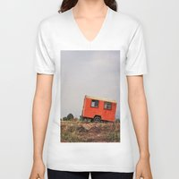 spanish V-neck T-shirts featuring Spanish Caravan  by Yehuda Swed