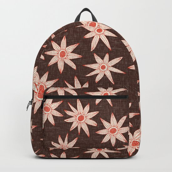 sema brown fire orange Backpack