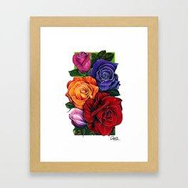 Roses and Petals Framed Art Print