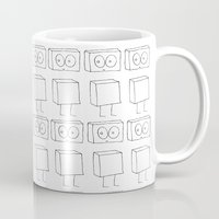 robots Mugs featuring Robots by The Ghost and Robot