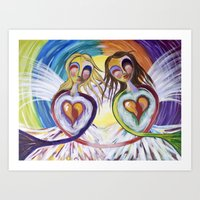 Angel Sisters Art Print