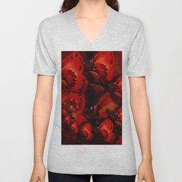 Inner Glow 4 Spiral Red Unisex V-Neck