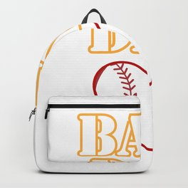 Ball Dad Love Softball Baseball Fathers Day Gifts Backpack