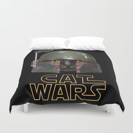 Boba Cat Wars Duvet Cover