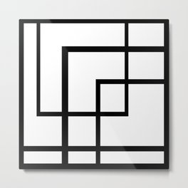 Count the Rectangles Metal Print
