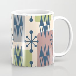 Mid Century Modern Abstract Atomic Diamonds 429 Coffee Mug