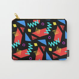 80s Squiggle Pattern Carry-All Pouch