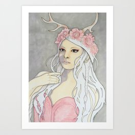 once upon a time Art Print
