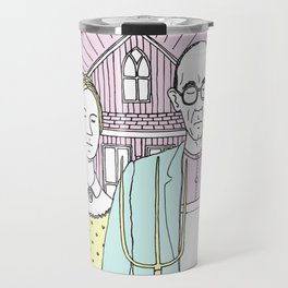 American Gothic Pop Travel Mug