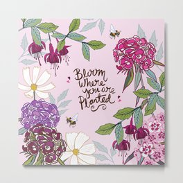 Bloom Where You Are Planted, Sweet Williams Metal Print